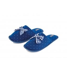NOIDINOTTE Pantofola Donna A Pois con Dettaglio Fiocco Grande Art.PF2223