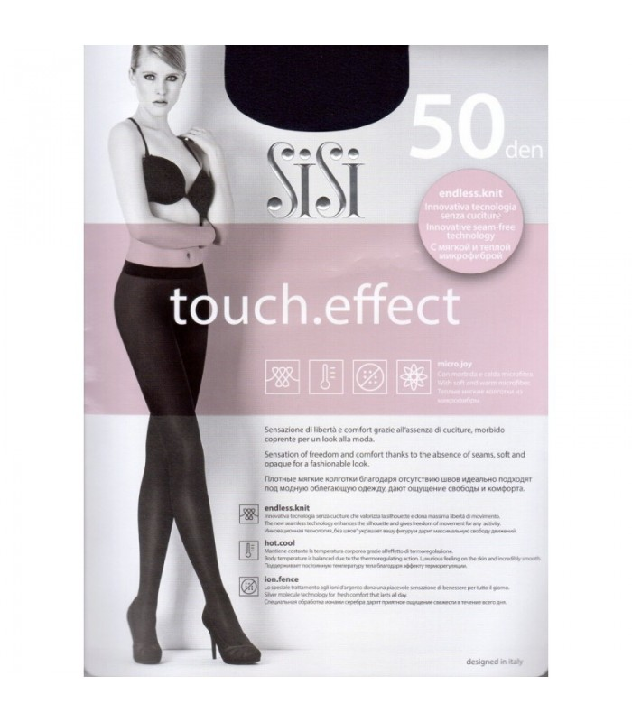 COLLANT SISI TOUCH EFFECT 50 DEN MICROFIBRA