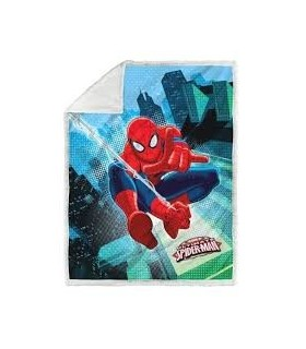 CALEFFI PLAID UNA PIAZZA ART SPIDER-MAN GRAPHIC