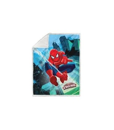 PLAID CALEFFI UNA PIAZZA ART SPIDER-MAN GRAPHIC