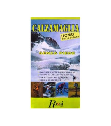 CALZAMAGLIA UOMO ROSSI CALDO COTONE SENZA PIEDE ART 510