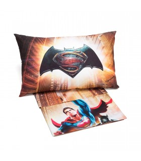 CALEFFI SET LENZUOLA COPRILETTO BATMAN E SUPERMAN
