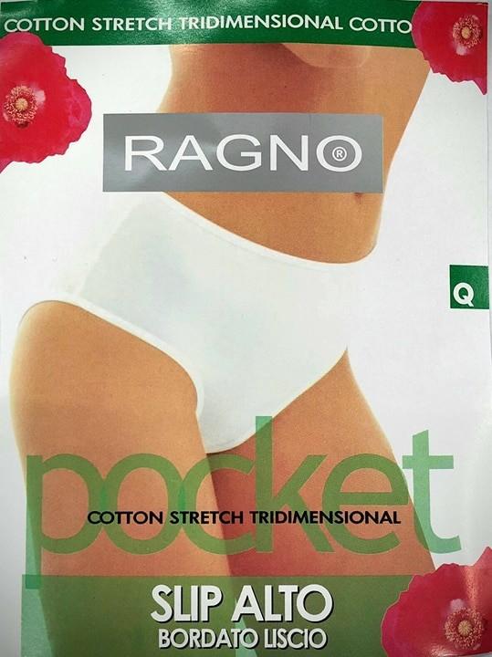 RAGNO  DONNA 2 SLIP FLY MAXY BORDATO LISCIO IN COTONE ELASTICIZZATO ART.07180Z