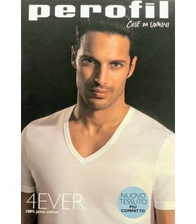 T-SHIRT PEROFIL UOMO M/C SCOLLO V 4EVER 24158