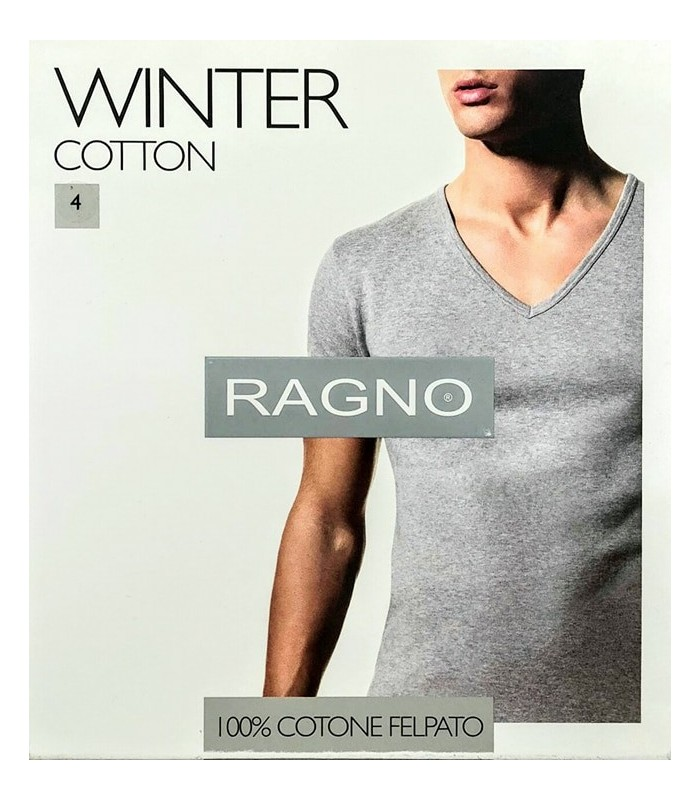 RAGNO SHIRT UOMO M/C SCOLLO V WINTER COTTON 601638