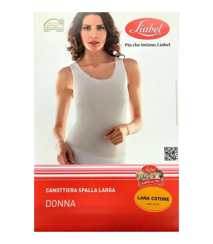 LIABEL CANOTTIERA DONNA SPALLA LARGA CON PIZZO ART.05321 1026