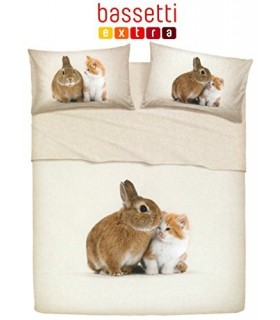 BASSETTI COMPLETO LETTO COPRILETTO 1,5 P LITTLE FRIENDS