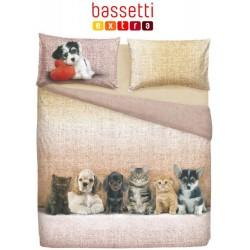 BASSETTI PARURE COPRIPIUMONE 1,5 P DOGS E CATS