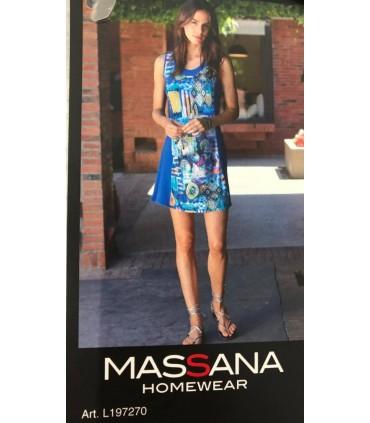 Massana Abitino Donna Viscosa Spalla Larga Fantasia Art.L197270