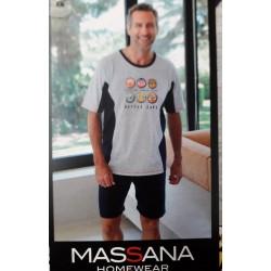 Massana Homewear Pigiama Uomo Estivo in Cotone Art. P191338