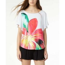LIU JO T-Shirt Donna Manica Corta Larga Con Fiore Art.V19071 J5672