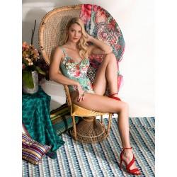 Marina Abagnale Donna Bikini Intero Coppa Senza Ferretto Fantasia Art.20641