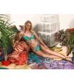 Marina Abagnale Donna Bikini Mare con Ferretti Imbottitio e Slip Vita Media Art.20052