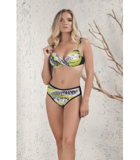 PortRose Donna Bikini 2 pezzi con Ferretto e Slip Vita Media a Fantasia Art.30161