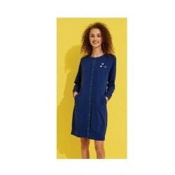 Noidinotte Vestaglia Donna Manica Lunga In Cotone Art.GE2031