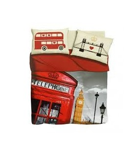 COMPLETO LENZUOLA LETTINO I LOVE SLEEPING LONDON BUS