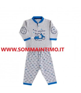 NODINOTTE PIGIAMA NEONATO M/LUNGA IN COTONE ART.FT502AS