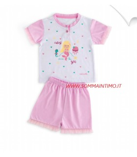 NOIDINOTTE PIGIAMA NEONATA M/CORTA IN COTONE ART.FT498AS
