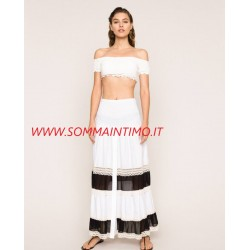 TWINSET DONNA Gonna-abito con inserti in georgette e pizzo ART.201LM2HFF